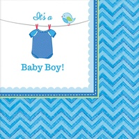 Shower w/Love Boy Beverage Napkins