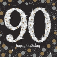 90th Sparkling Celebration Beverage Napkins