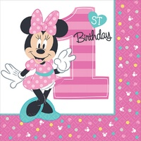 Minnie Fun To Be One Lunch Napkins
