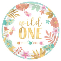 Boho Wild One Lunch Plates