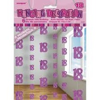 18th - Pink Glitz Hanging String Decoration