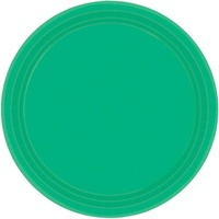 Green Festive Paper Lunch Plates (Pkt 20)