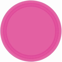 Pink Bright Paper Lunch Plates (Pkt 20)