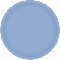 Blue Pastel Paper Lunch Plates (Pkt 20)