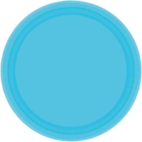 Blue Caribbean Paper Lunch Plates (Pkt 20)
