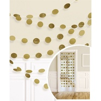 String Decorations Glitter Gold Round