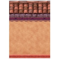 Mexican Fiesta Stucco & Roof Tiles Room Roll Scene Setter
