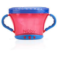 Baby Nuby No Spill Snack Keeper Red & Blue
