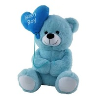 'Baby Boy' Blue Bear With Balloons