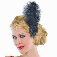 1920's Jazzy Feather Hair Clip