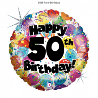 50th Birthday Party 45cm Foil Balloon