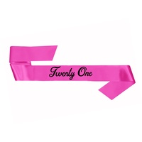 21st Birthday Sash Pink