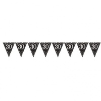30th Sparkling Celebration Pennant Banner