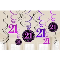 21st Pink Celebration 21st Swirls