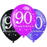 90th Pink Celebration 30cm Latex Balloons