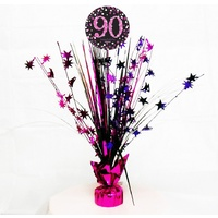 90th Pink Celebration Centrepiece Spray