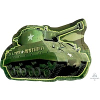 Camouflage Tank Supershape Foil Balloon