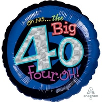 40th Oh No! It's My Birthday 45cm Foil Balloon