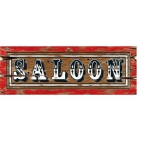 Western Saloon Sign Cutout