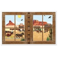 Western Window Cutout Props