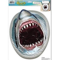 Shark in the Toilet Cling Sticker