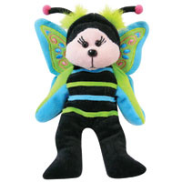 Flutterby the Butterfly Bear (Creased Tag)