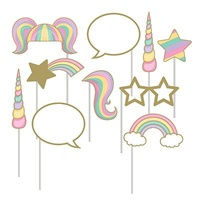 Unicorn Sparkle Photo Booth Props Assorted Sizes