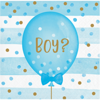 Gender Reveal Balloons Beverage Napkins