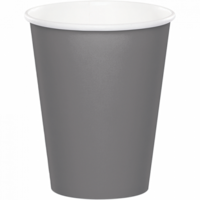 Glamour Gray Cups Paper 266ml (Pkt 24)