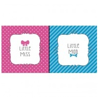 Gender Reveal Bow or Bow Tie Beverage Napkins