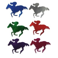 Horse Racing Cutouts 100mm Multi-Coloured