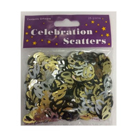 40th Scatters Black, Silver & Gold