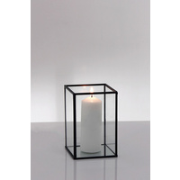 Hire of Metal Frame Glass Candle Box Black