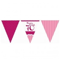 70th - Pink Perfectly Flag Banner