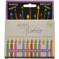 Angel Flames Coloured Flame Party Candles