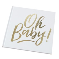 Oh Baby! Gold Guest Book