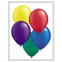 28cm Assorted Pearl Radiant Latex Balloons (Pkt 25)