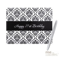 21st - Guest Book Damask Design