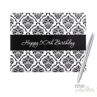 50th - Guest Book Damask Design