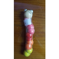 Wooden Multi-coloured Worm